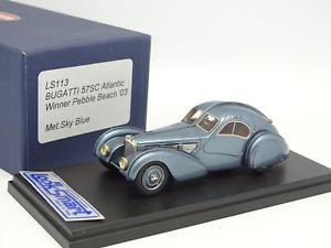 【送料無料】模型車 モデルカー スポーツカー ブガッティアトランティックペブルビーチlooksmart 143 bugatti 57 sc atlantic 1936 bleue winner pebble beach 2003