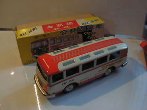 【送料無料】模型車 モデルカー スポーツカー バスバスビンテージbus sight seeing bus  tin toy tole vintage 50s 60s mf 130