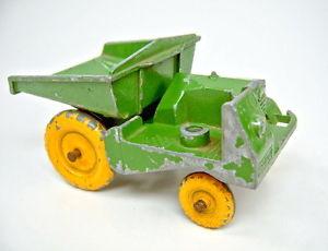 【送料無料】模型車 モデルカー スポーツカー マッチコンドンサイトグリーンmatchbox early lesney toys large site dumper von condon grn