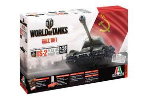 【送料無料】模型車 モデルカー スポーツカー タンクジョセフスターリンキットworld of tanks josef stalin js2 kit italeri 156 it56506