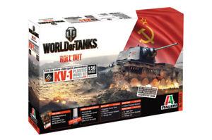 【送料無料】模型車 モデルカー スポーツカー タンクキットworld of tanks kv1 kit italeri 156 it56505