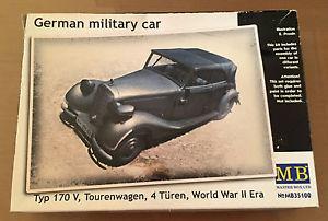 【送料無料】模型車 モデルカー スポーツカー マスターボックスドイツタイプツーリングドアmaster box mb35100 135 german military car typ 170 v tourenwagen, 4 turen