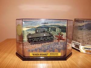 【送料無料】模型車 モデルカー スポーツカー マッチシャーマンビーチノルマンディーp525 matchbox 172 sherman m4a376mm beach assault normandie 1944
