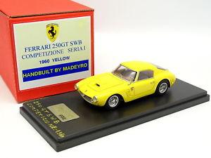 【送料無料】模型車 モデルカー スポーツカー フェラーリシリーズmadyero 143 ferrari 250 gt swb competizione serie i 1960 jaune