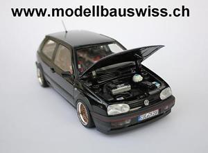 【送料無料】模型車 モデルカー スポーツカー ゴルフエディションチューニングモデルスイスvw golf 3 gti edition 118 tuning wwwmodellbauswissch
