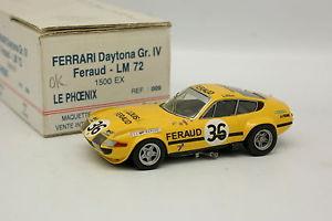 【送料無料】模型車 モデルカー スポーツカー ルフェニックスフェラーリデイトナフェロールマンamr le phoenix 143 ferrari 365 gtb 4 daytona feraud le mans 1972