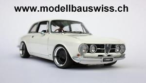 【送料無料】模型車 モデルカー スポーツカー アルファロメオチューニングモデルスイスalfa romeo 1750 gtv 1967 118 tuning 1zu18 umabu unikat wwwmodellbauswissch
