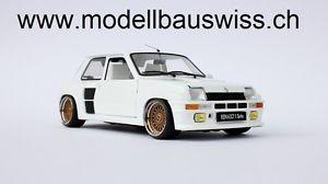 【送料無料】模型車 モデルカー スポーツカー renault 5 turbo all white one of a kind weiss 118 tuning limitiert rar