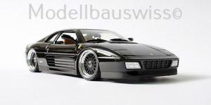 【送料無料】模型車 モデルカー スポーツカー フェラーリチューニングモデルスイスferrari 348 tb schwarz 118 1zu18 tuning umbau modellbauswiss