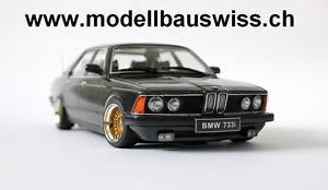 【送料無料】模型車 モデルカー スポーツカー ブラックチューニングbmw 733 e28 schwarz 118 1zu18 tuning umbau