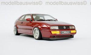【送料無料】模型車 モデルカー スポーツカー レッドチューニングモデルスイスvw corrado g60 rot 118 tuning rar modellbauswiss