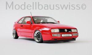 【送料無料】模型車 モデルカー スポーツカー レッドチューニングvw corrado vr6 1993 rot 118 1zu18 tuning