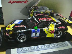 【送料無料】模型車 モデルカー スポーツカー ポルシェグアテマラ#スパークporsche 911 997 gt3 r haribo 24h nrbur 2011 manthey 8 menzel 1750 spark 118