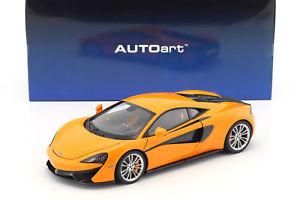 【送料無料】模型車 モデルカー スポーツカー マクラーレンシルバーホイールオレンジmclaren 570s baujahr 2016 orange mit silbernen rdern118 autoart
