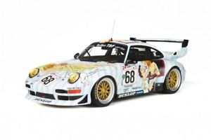 【送料無料】模型車 モデルカー スポーツカー ポルシェグアテマラルマン#レディporsche 911 993 gt2 le mans 1998 68 naked lady rar gt spirit resin 118
