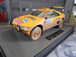 【送料無料】模型車 モデルカー スポーツカー プジョーパリダカールラリーバタネントップマルケスpeugeot 405 gt t16 paris dakar winner raid 1990 dirty vatanen top marques 118