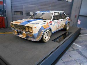【送料無料】模型車 モデルカー スポーツカー フィアットアバルトラリーフィンランド#ブラダーティトップマルケスfiat 131 abarth rallye 1000 lakes finnland 1 alen bravo dirty top marques 118