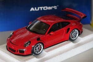 【送料無料】模型車 モデルカー スポーツカー ポルシェグアテマラガードレッドporsche 911 gt3 rs 991 2015 guards rot 118 autoart 78165 neu ovp