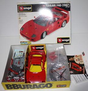 【送料無料】模型車 モデルカー スポーツカー スカラフェラーリメタルキットbburago scala 118 118 7032 ferrari f40 1987 metal kit