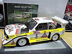 【送料無料】模型車 モデルカー スポーツカー アウディクワトロラリーサンレモオットーaudi s1 e2 quattro rallye san remo rhrl 1985 winner resin otto dvd 118