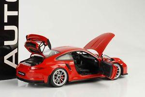 【送料無料】模型車 モデルカー スポーツカー ポルシェグアテマラporsche 911 991 gt3 rs rot guards red 2016 118 autoart 78165