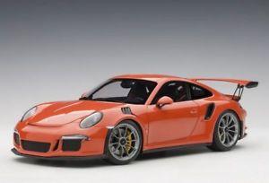 【送料無料】模型車 モデルカー スポーツカー ポルシェオレンジモデルカーporsche 911 991 gt3 rs 2016 orange modellauto 118 autoart
