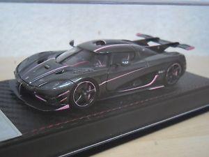 【送料無料】模型車 モデルカー スポーツカー フロントピンクfrontiart koenigsegg one1 carbon pink nr f03855 143
