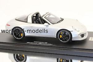 【送料無料】模型車 モデルカー スポーツカー ポルシェワックスタルガシルバーメタリックgt spirit wax02100011 porsche 911 991 targa 4s silbermetallic 118 exclusive