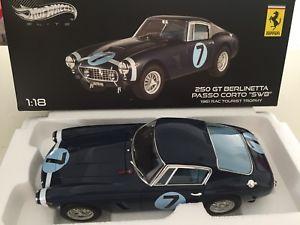 【送料無料】模型車 モデルカー スポーツカー ァーフェラーリコルトエリートブルneues angebot118 ferrari 250gt berlinetta passo corto swb 1961 n7 hotwheels elite x5489 blu