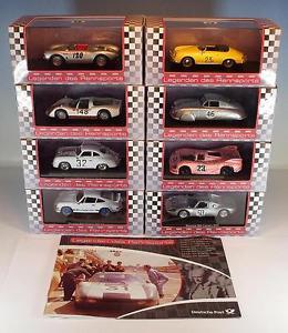 【送料無料】模型車 モデルカー スポーツカー レーシングポルシェポストセットモデル#high speed 143 legenden des rennsports porsche post set 8 modelle ovp 1572