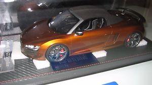 【送料無料】模型車 モデルカー スポーツカー アウディスパイダーブロンズaudi r8 gt spyder 118 fronti art ovp bronze limited