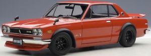 【送料無料】模型車 モデルカー スポーツカー スカイラインチューニングバージョンautoart 77444 118 nissan skyline gtr kpgc10 tuned version red neu