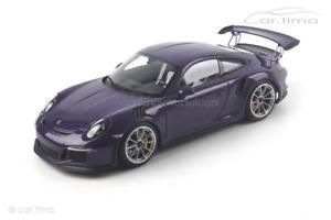【送料無料】模型車 モデルカー スポーツカー ポルシェグアテマラウルトラバイオレットporsche 911 991 gt3 rs ultraviolet autoart 118 78169