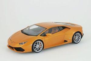 【送料無料】模型車 モデルカー スポーツカー ランボルギーニオレンジメタリックlamborghini huracan lp6104 2014 orange metallic autoart 118 neuovp
