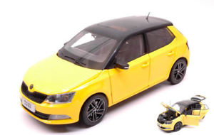 【送料無料】模型車 モデルカー スポーツカー シュコダファビアモデルネットワークskoda fabia iii 2015 yellow 118 model abrex
