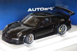 【送料無料】模型車 モデルカー スポーツカー ポルシェグアテマラブラックporsche 911 gt3 rs 991 2015 schwarz 118 autoart 78164 neu ovp