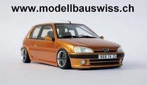 【送料無料】模型車 モデルカー スポーツカー プジョーチューニングアルミホイールpeugeot 106 16v 118 tuning 1zu18 118 118 umbau alu felgen