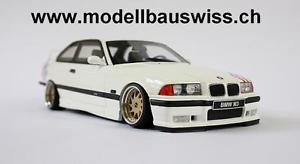 【送料無料】模型車 モデルカー スポーツカー チューニングコンバージョンモデルスイスモデルbmw m3 e36 light weight 118 1zu18 118 tuning umbau modellbauswiss modellbau
