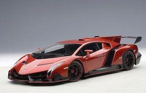 【送料無料】模型車 モデルカー スポーツカー ランボルギーニメタリックレッドautoart 74508 lamborghini veneno 2013 metallic rot