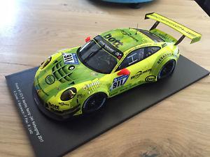 【送料無料】模型車 モデルカー スポーツカー スパークポルシェグアテマラ#シングル118 spark porsche 911 gt3 r 911 manthey grello 24h nbr 2017 18sg024