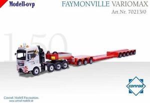 【送料無料】模型車 モデルカー スポーツカー バリフォーカルレンズトレーラーコンラッドモデルコンman tgx faymonville variomax tiefbettauflieger conrad modelle con 702130