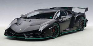 【送料無料】模型車 モデルカー スポーツカー ランボルギーニマットブラックautoart lamborghini veneno 2013 matt schwarz 118 74505