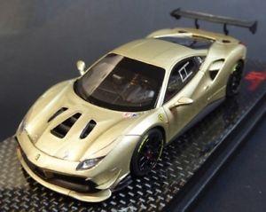 【送料無料】模型車 モデルカー スポーツカー フェラーリチャレンジアトリエferrari 488 challenge oro chiaro met mr atelier 488challengemr02 limited 0910