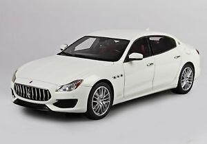 【送料無料】模型車 モデルカー スポーツカー マセラティマセラティクアトロポルテmaserati quattroporte gransport bianco alpi 118 bbrc1822a bbr