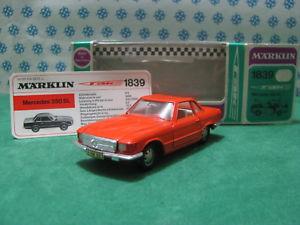 【送料無料】模型車 モデルカー スポーツカー ビンテージメルセデスミントボックスrare vintage  marklin 1839  mercedes 350 sl pagoda  mint box