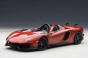 【送料無料】模型車 モデルカー スポーツカー ランボルギーニロッソメタリックレッドautoart 74673 118 signature lamborghini aventador j rosso jmetallic red 20