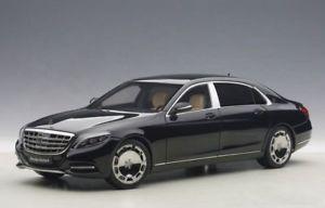 【送料無料】模型車 モデルカー スポーツカー クラスメルセデスマイバッハブラックモデルカーmercedes maybach sklasse s600 swb 2015 schwarz, modellauto 118 autoart