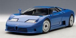 【送料無料】模型車 モデルカー スポーツカー ブガッティautoart bugatti eb110 gt blau 1991 118 70976
