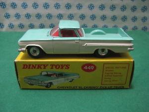 【送料無料】模型車 モデルカー スポーツカー ビンテージシボレーエルカミーノヌオーヴァミントボックスvintage  chevrolet el camino    dinky toys 449   nuova  mint box