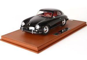 【送料無料】模型車 モデルカー スポーツカー ポルシェショーケースporsche 356a schwarz mit vitrine 118 bbrc1820bv bbr